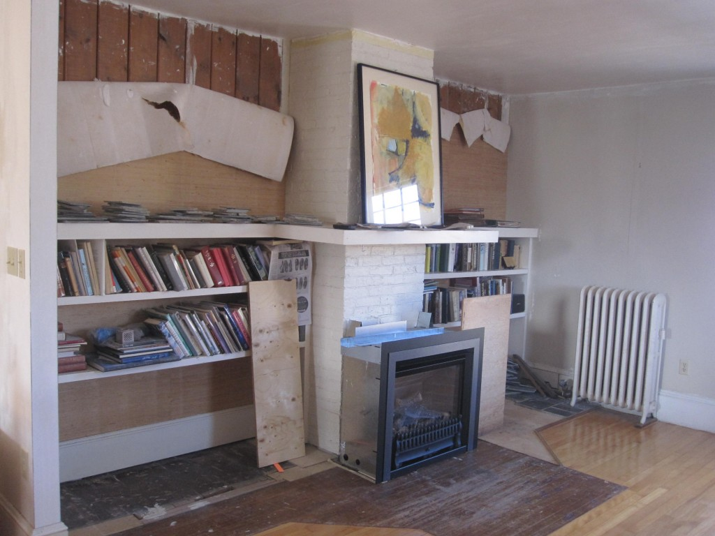 Existing conditions, with fireplace insert