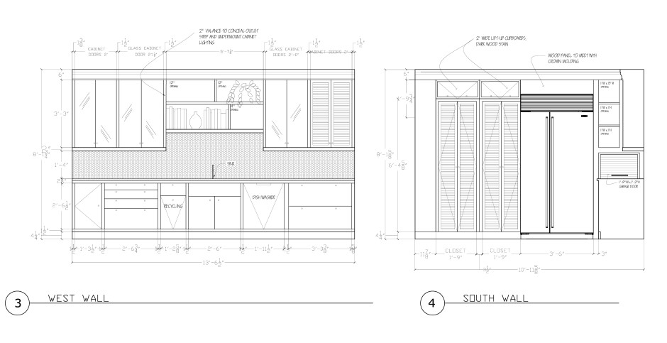 Kitchen Elevations Proposed
