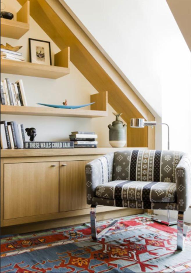 Shelves at Second Floor Study—Finished Design