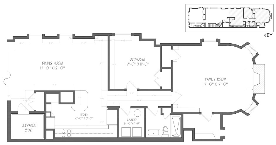 Existing Conditions, Kitchen and Master Bedroom Wing