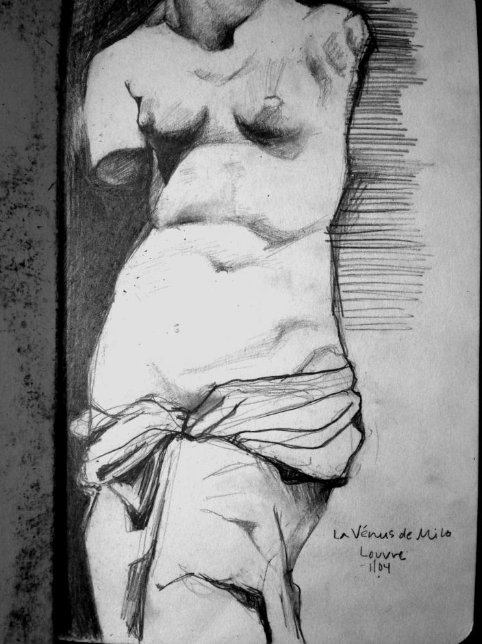 Venus De Milo Sketch, The Louvre